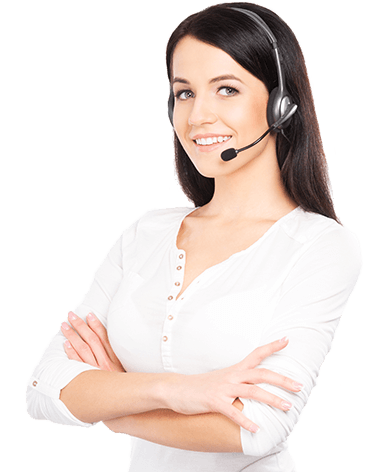 Call center technician image.